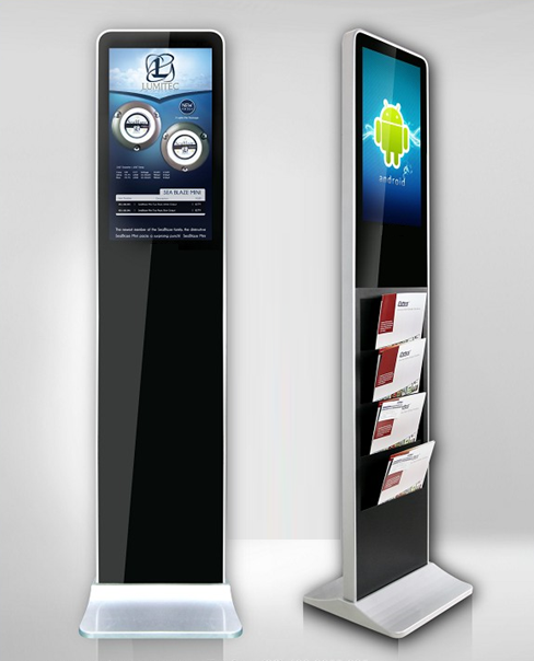 LCD Werbestele Prospektspender