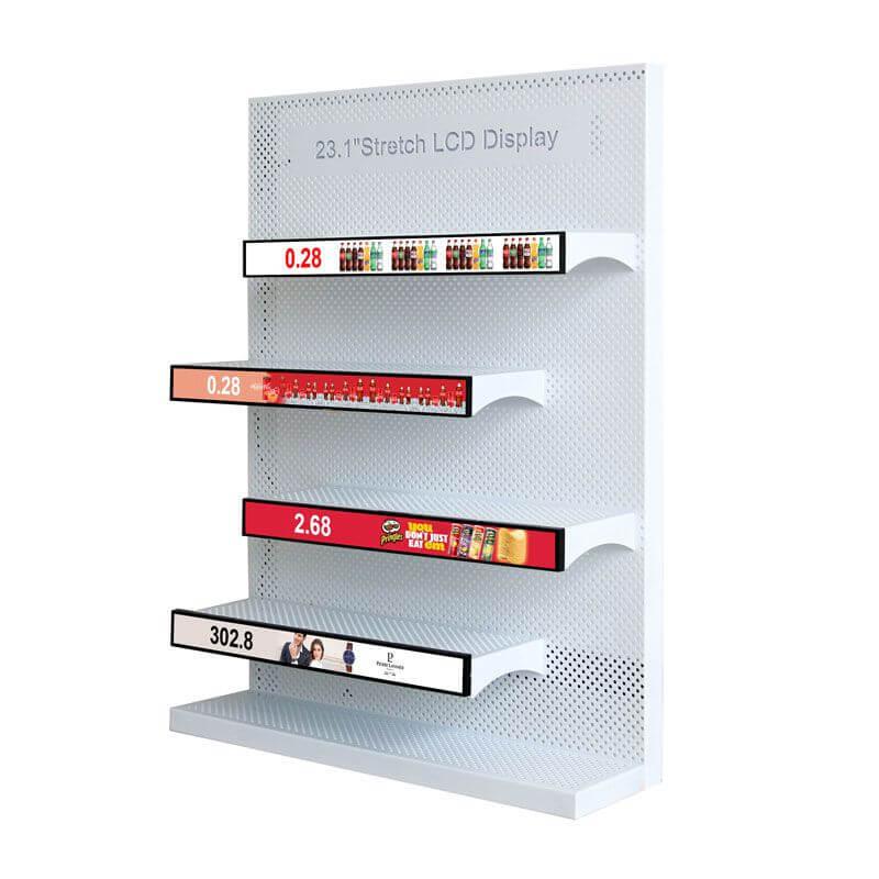 Stretched Displays für Verkaufsregale