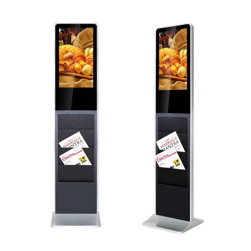 Werbestele mit Touchdisplay & Prospektfächer
