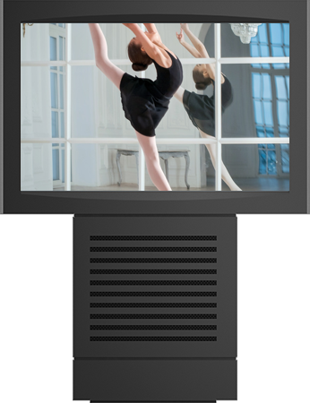 Outdoor Infoterminal für den Einsatz Multimedialer Werbung auf öffentlichen Plätzen im Außenbereich.