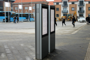 digitale Outdoor Stele